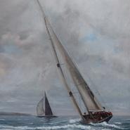 J Class Yachts racing at Falmouth