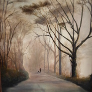 Misty Winter Walk SOLD