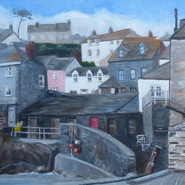 Port Isaac in Winter  SOLD
