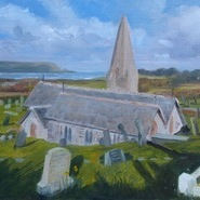 St Enodoc Church, Early Spring (3) SOLD