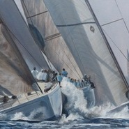 Swan Cup, approaching the Windward Mark