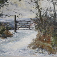 Wintry Gate Dartmoor  SOLD