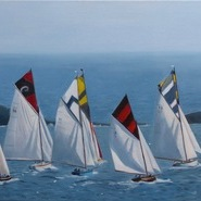 Working Boats racing at Falmouth  SOLD